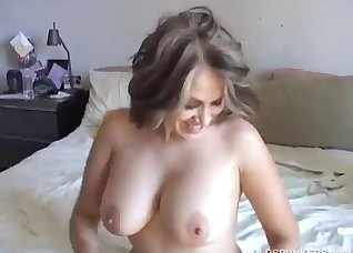 Busty cheating wife and a fat sausage