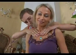 Adorable MILF opens her crack for a lover