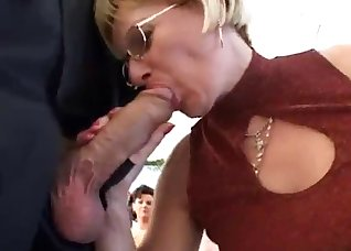 A gorgeous teacher takes a big boner