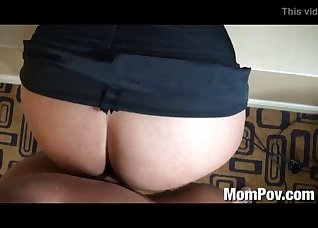 Fucking with a big-bottomed mature