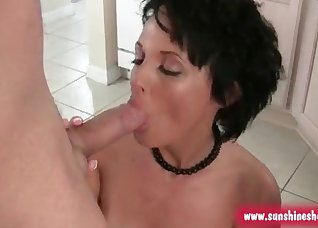 Kinky busty brunette screwed from behind