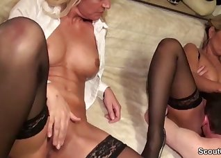 Two busty blondies are getting dominated