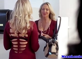 Two horny ladies both love lesbian sex